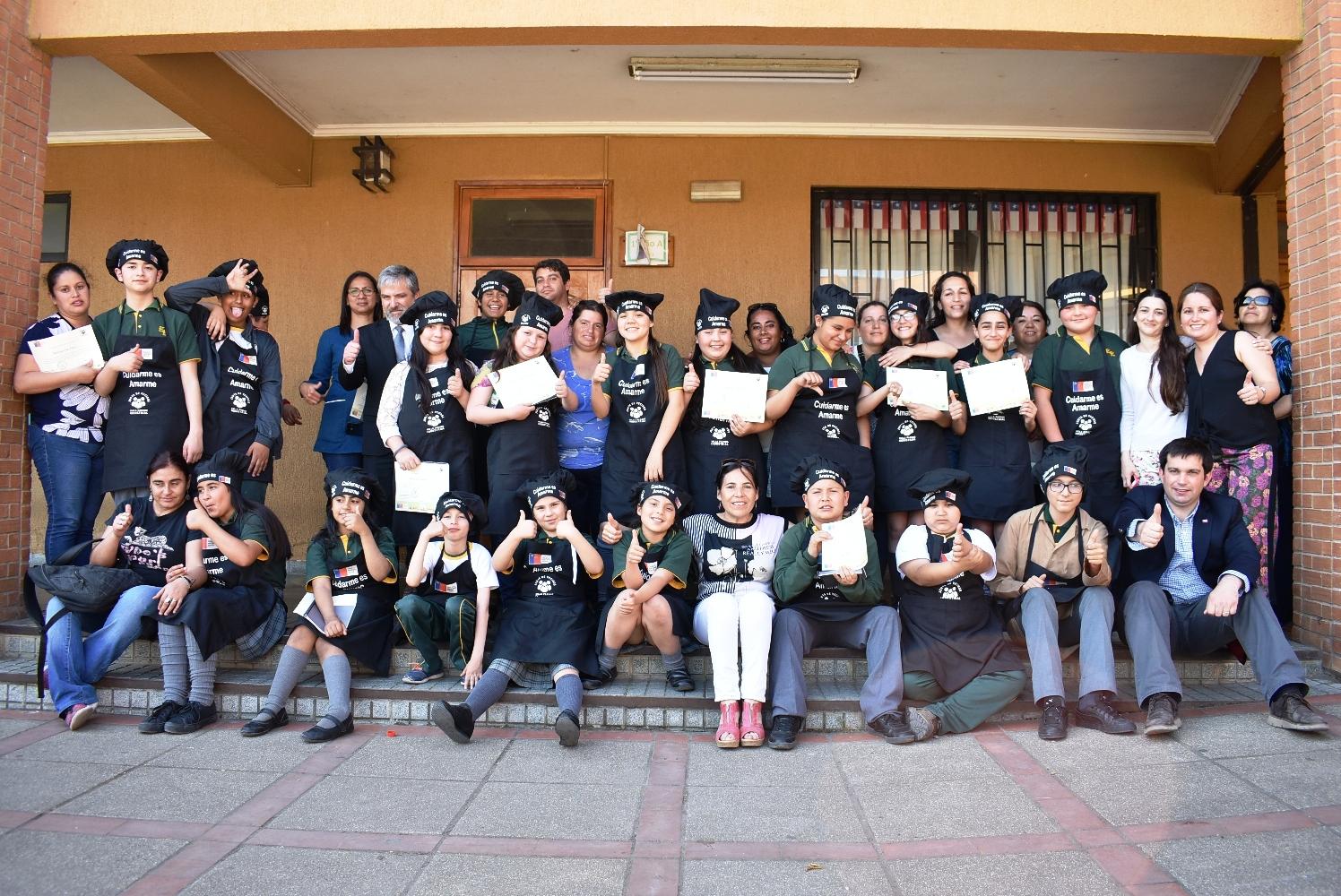 Niños de la escuela Esperanza de Talca participaron de proyecto que fomenta la alimentación saludable y la actividad física - Maulee.cl Diario electrónico de la Región del Maule