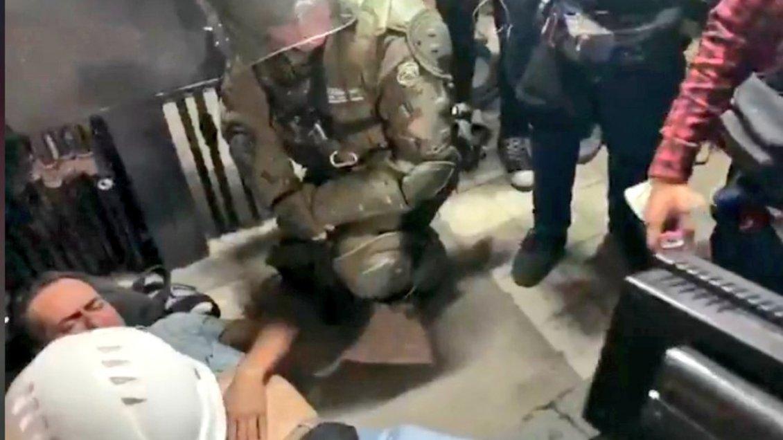 Durante protesta en Talca camarógrafo es herido por Carabineros en Talca - Maulee.cl Diario electrónico de la Región del Maule